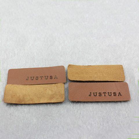 Leather patch custom made debossed logo brown fake for hat 8c5f6af2ba0