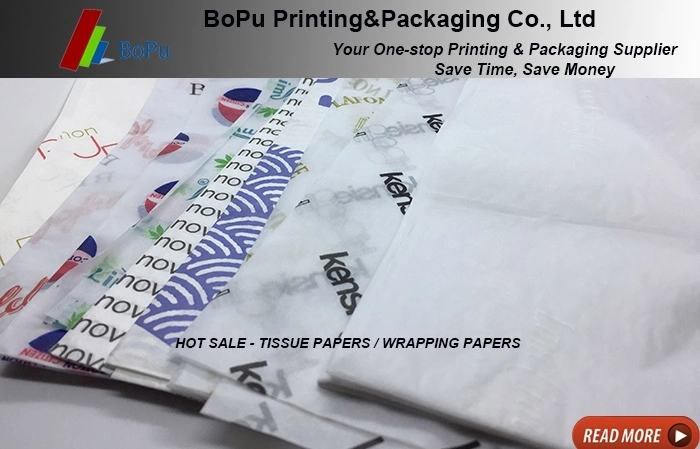 White logo tissue wrapping paper for clothes
