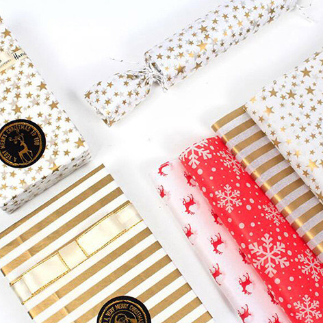 Custom Color White Gold Packaging Shoe Recycled Clothing Foil Garment Lamination Printing Christmas Tissue Paper